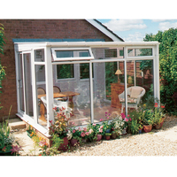 Outdoor Porch Enclosure Kit Bespoke Glass Tiled Conservatory Sunroom aluminium conservatory