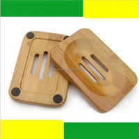 Natural Bamboo Wooden Soap Dish Wooden Soap Tray Holder Storage Soap Rack Plate Box Container for Bath Shower Plate Bathroom