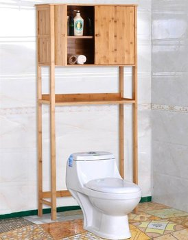 Bamboo Bath Cabinet Space Saver Bath Towel Shelf Over Toilet Buy