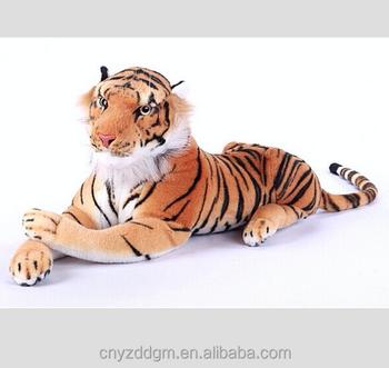 Lifelike Tiger Toys Giant Stuffed Tiger Animal Big Orange Tiger