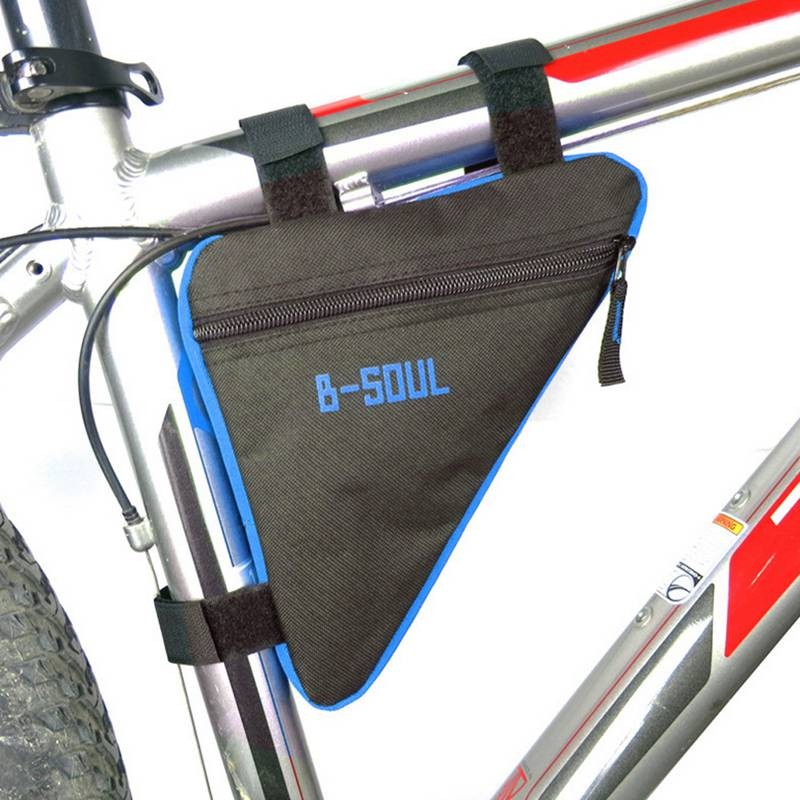 4 Colors Waterproof Triangle Cycling Bicycle Bags Front Tube Frame Bag Mountain Bike Triangle Pouch Frame Holder Saddle Bag New фото