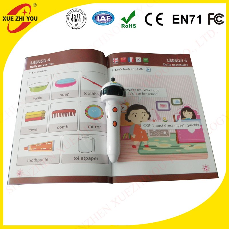 Education learning toy children english reading books kids read pen