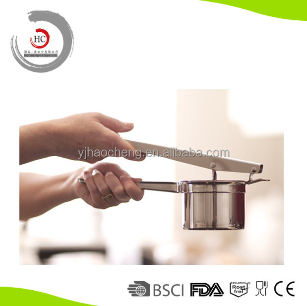 Stainless Steel Potato Products Of Potato Presser Potato Masher With 3 Disks