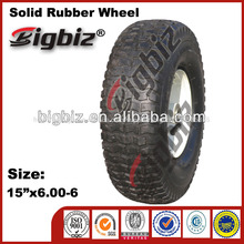 Rubber wheels for toys, solid rubber wheel 6.00-6