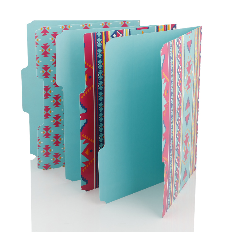 Color Design Paper File Folder
