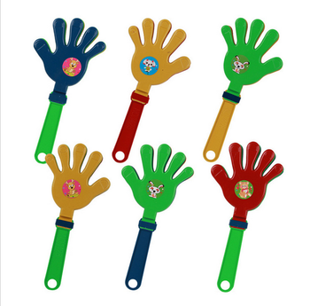 Customized logo plastic PP noise maker hand clap toy , fan clapper