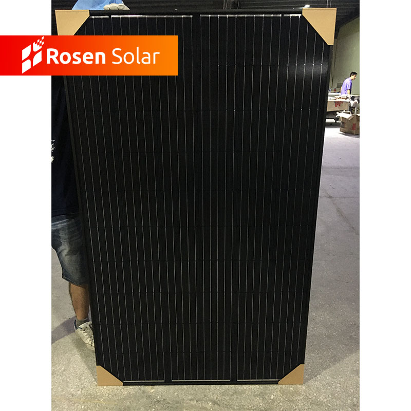 A grade Mono 310W Black Solar Panels 5BB 60 cells Photovoltaic Solar Module Cost