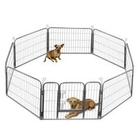Custom Folding Outdoor Large Metal Pet Dog Playpen Puppy Exercise enclosure Fence With 8 Panels