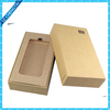 Cell phone case brown kraft recycable paper packaging box