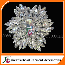 hot sale wholesale large crystal Rhinestone brooches & hijab pins in bulk