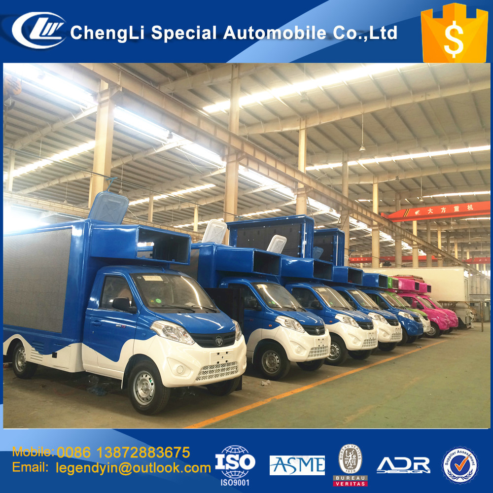 CLW customized pubilicity truck 4x2 4 side LED screen truck for video image playing good pubilicity efficient