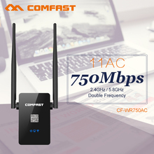 COMFAST CF-WR750AC Dual Band 2.4G+5.8Ghz 750Mbps 802.11AC WIFI Router Repetidor WIFI Repeater  wi fi Roteador Router Extender