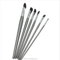 6Pcs New Acrylic Gouache Paint Brush Set Nylon Hair Drawing Tool Stationery Art Painting Supply