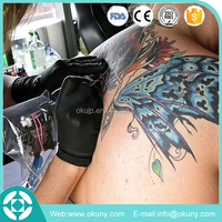 new product cheap price powder free nitrile exam gloves black for tattoo