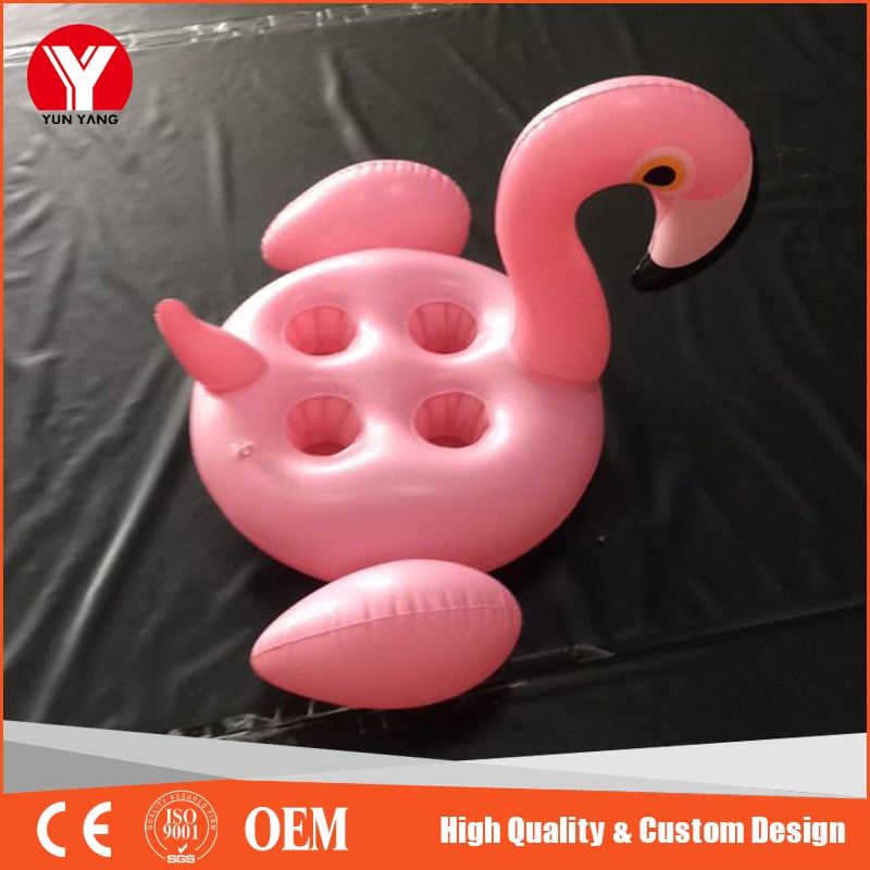 Inflatable pink flamingo coasters Swimming Pool Drink Holder