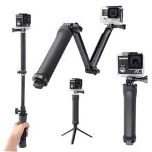 GoPro 3-way Monopod + Tripod + Grip Super Portable Magic Mount for xiaomi yi GoPro Hero4 / 3+ / 3/ 2 +SJ4000 Free shipping GP238