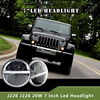 7 Inch Replacement Headlights with LED ring for Jeep Wrangler FJ Harley
