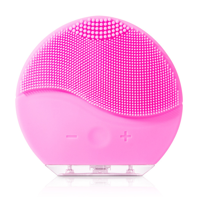 HOT Beauty device Silicone Electric Face Massage Facial Cleansing Brush, Pink