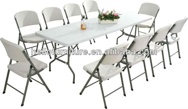 8 pies mesa plegable y sillas de pl stico mesas plegables