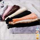 Factory Supply 101% Real Tanned Dyed Color rex rabbit fur skins For Garment Use