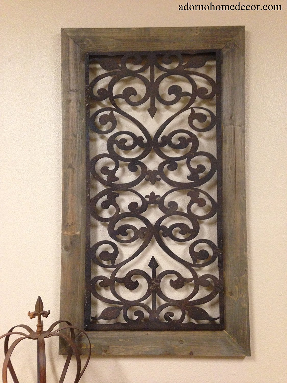 Get Quotations Large Metal Wood Wall Panel Antique Vintage Rustic Chic Unique Decor