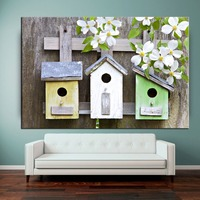 Cheap birdhouse outdoor canvas art photo printing painting wholesale