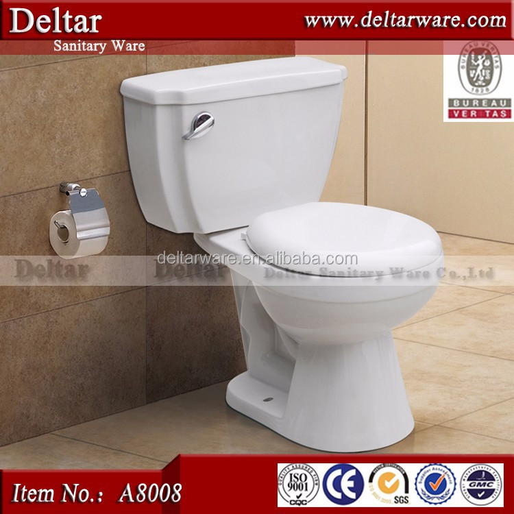 bathrooms designs two piece toilet,china toilet commode, side button siphonic upc certificate toilet