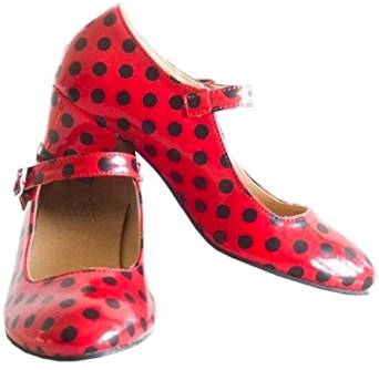 La Senorita Flamenco Shoes Spanish Princess Shoes Red White