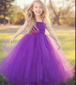 ead9148d871b purple 3 year old girl tutu long birthday dress for kids children long  wedding dress