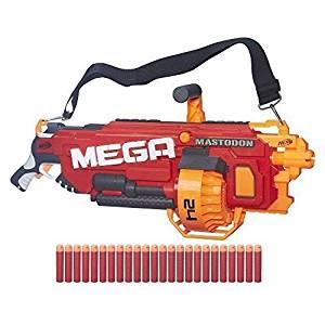 Nerf N-Strike Mega Mastodon BLASTER, Kids Toy 24 Dart Motorized NERF GUN