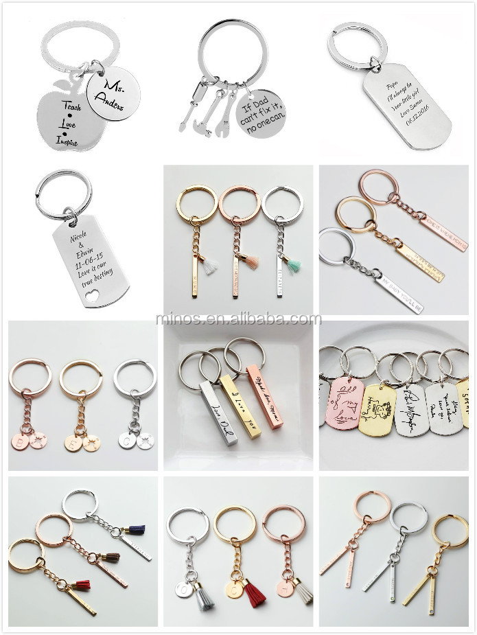 Personalized Keychain - Monogram Keychain Suede Tassel High School  Graduation Gift For Her Personalized Graduation - Buy Personalized