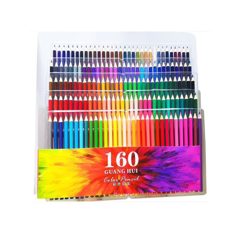 High Quality 160 Assorted Oily Colored Pencils Set For Adult Coloring Book Artwork Etc