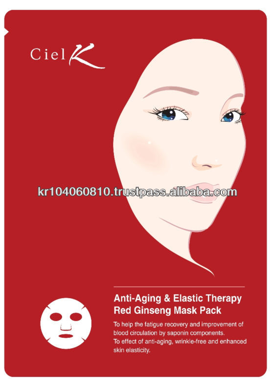 Korean Red Ginseng mask pack