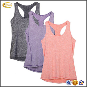 Ecoach Wholesale OEM Women Personalized Flowy Burnout Bodybuilding Women workout Racerback Tank Tops