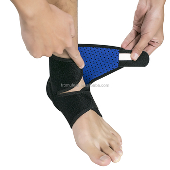 Wholesale Fitness Adjustable Neoprene Foot Compression Sleeve Ankle Support