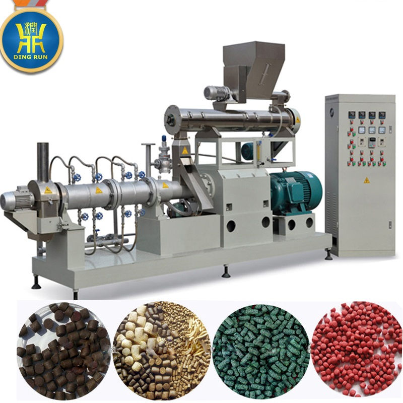 Floating fish feed pellet making extrusion extruder fish / shrimp food making machine
