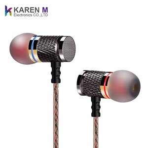2018 Hot selling 3.5mm wired metal Stereo Headset in ear earphones with microphone KZ earphone EDR1 for iPhone MP3 computer