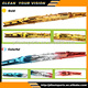 Double color wiper blade with different colors