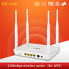 New Design High Power 1200Mbps 2.4G&5G Dual Band Router