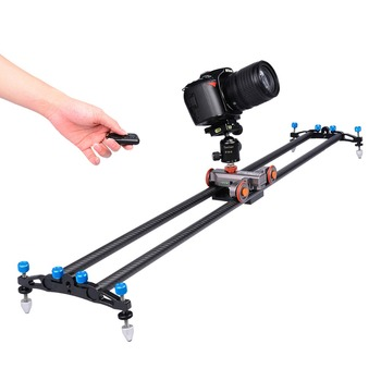 YELANGU Autodolly L4 Motorized camera slider Instead of Camera Table Slider dolly for Dslr Camera and Smartphone