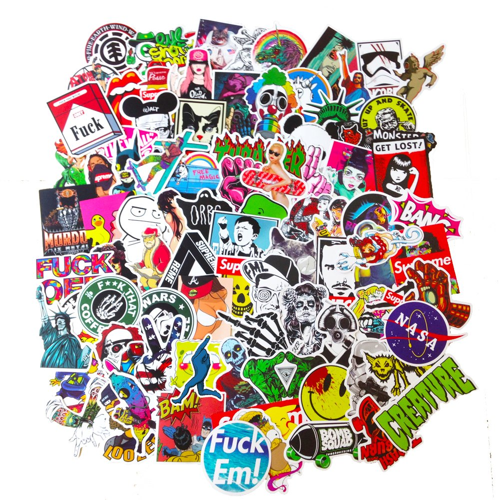Dreamergo Cool Graffiti Stickers 45 Pieces Various Car Motorcycle Bicycle Skateboard Laptop Luggage Vinyl Sticker Graffiti