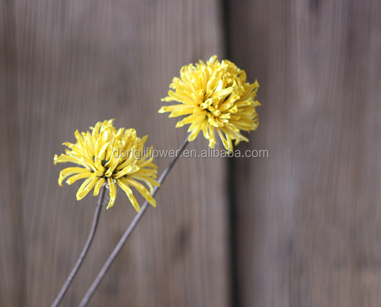 High Quality Unique design Handmade Flowers Gold chrysanthemum