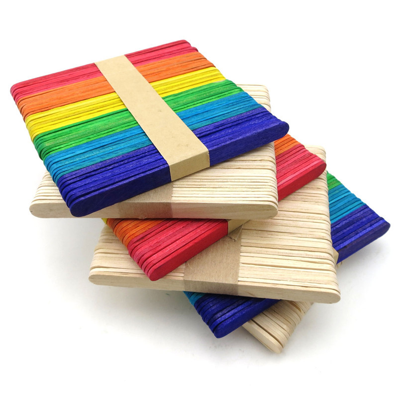 Food grade farbe drucken hölzerne eis sticks am stiel popsicle sticks