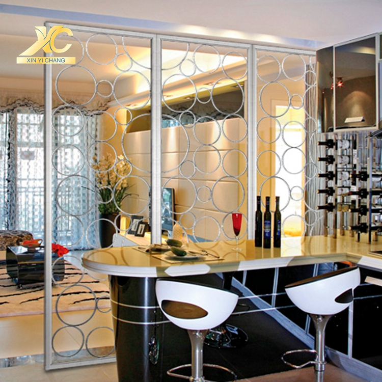 6k/8k/10k Mirror Living Room Dividers White Room Wall Divider Screen  Stainless Steel Kitchen Living Room Partition - Buy Living Room ...