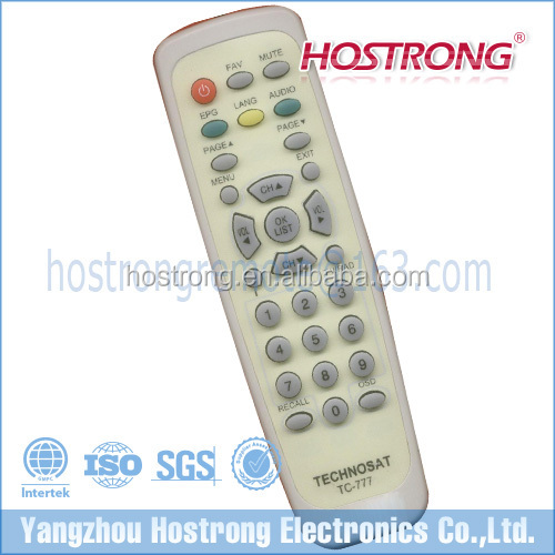 Shenzhen factory TECHNOSAT 777 satellite receiver remote control for Saudi Arabia market