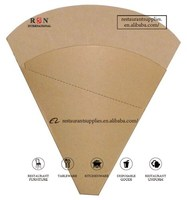 Custom Printed Cardboard Crepe Holder Food Paper Cone Perforated Crepe Holder