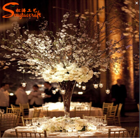 Home and party artificial flower ball decor popular centerpieces for wedding table