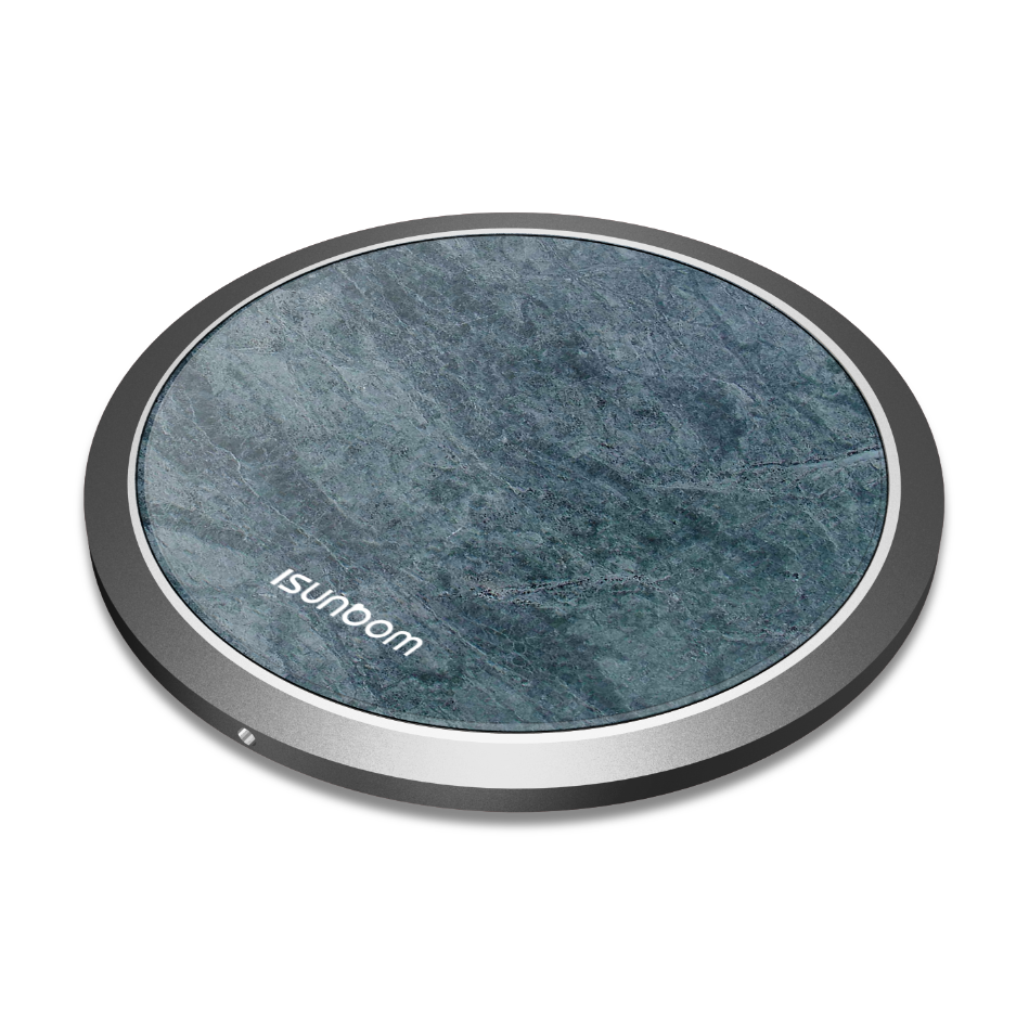 Hot sela Cell Phone Mini qi Mobile Marble design Wireless Charger Aluminum for iphone Wireless Charger фото