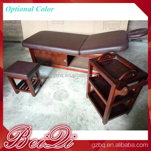 Spa equipment massage table bed wooden thai massage bed for beauty salon