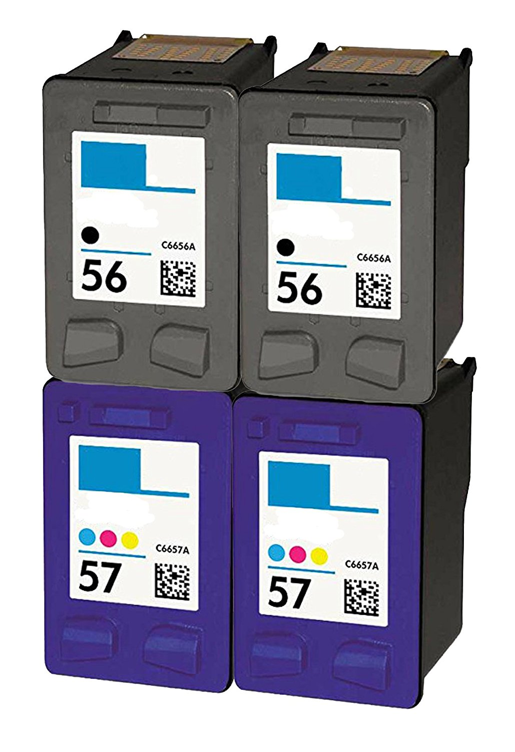 OCProducts Refilled HP 56 and HP 57 Ink Cartridge Replacement for HP PSC  1315 PSC 2410